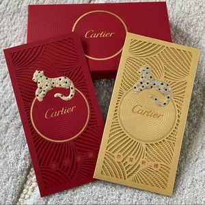Cartier Red Gold Lucky Money Envelopes Panther